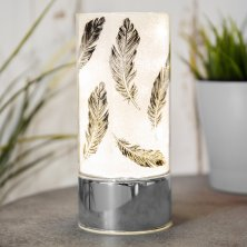 Glass LED Tube Light - Feather Motif