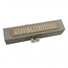 Love Story Wedding Certificate Holder