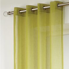 Lime Boston Eyelet Voile Panels