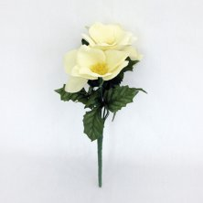 Christmas Cream Rose Bush Artificial Flowers