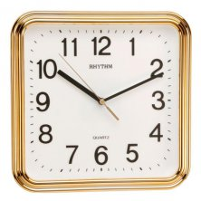 Rhythm Square Silent Sweep Wall Clock