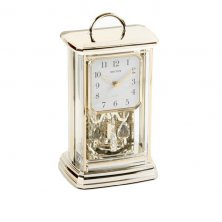 Rhythm Gilt Coloured Oblong Mantel Clock