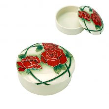 Old Tupton Ware Passion Rose Round Trinket Box