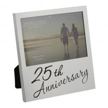 Juliana Aluminium Photo Frame 25th Anniversary