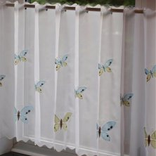 Butterfly Voile Cafe Panel