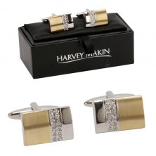 Gold and Silver Phodium Plated Cufflinks