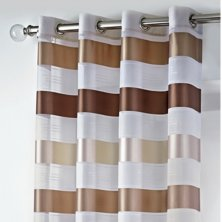 Stirling Eyelet Beige Brown Voile Panel