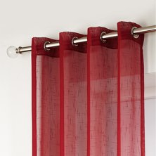 Red Boston Eyelet Voile Panels