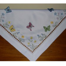 Butterfly Embroidered Tablecloth