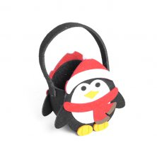 Christmas Penguin Felt Bag Large