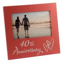 40th Anniversary Pearlised Photo Frame