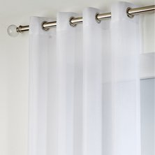 White Boston Eyelet Voile Panels