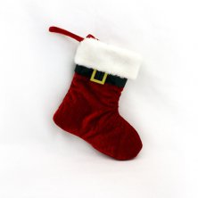 Christmas Hanging Santa Stocking Red
