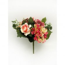 Artificial Flower Selection Bouquet Pink and Peach Artificial Flowers