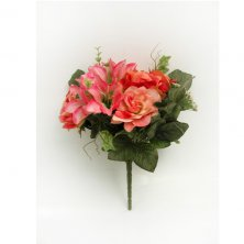 Artificial Pink Flower Bouquet