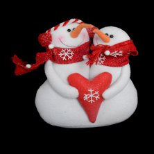 Christmas Snowy Friends with Heart