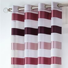 Stirling Eyelet Pink & Plum Voile Panel