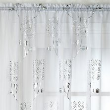White Chrissy Voile Panel