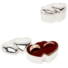Sophia Double Heart Silver Plated Ring Box
