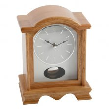 Widdop Broken Arch Style Light Oak Pendulum Mantel Clock