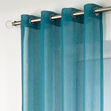 Teal Boston Eyelet Voile Panels