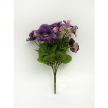 Pansy Bush Artificial Flowers
