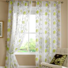 Lime Lombok Voile Panel