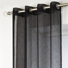 Black Boston Eyelet Voile Panels