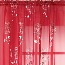 Red Chrissy Voile Panel