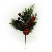 Christmas Apple Berry Spray Red Artificial Flowers