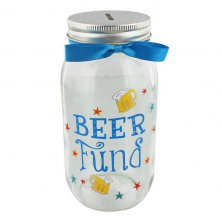 Pennies and Dreams Beer Fund Glass Money Box