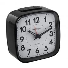 Widdop Silent Sweep Square Alarm Clock