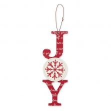 Joy Christmas Vertical Plaque