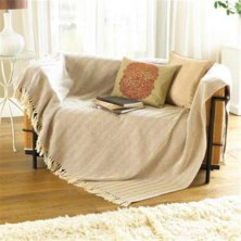 Como Natural Cotton Throw 228 x 254cm