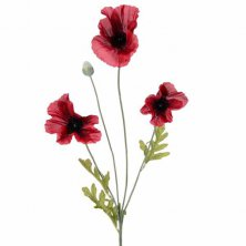Flame Red Artificial Poppy