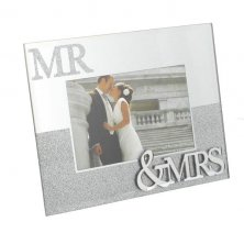 Glitter Mr & Mrs Photo Frame