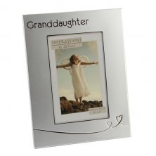 Impressions 2 Tone Silver Frame with Heart Design Granddaughter