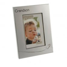 Impressions 2 Tone Silver Frame with Heart Design Grandson
