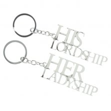 'His Lordship & Her Ladyship' Keyrings