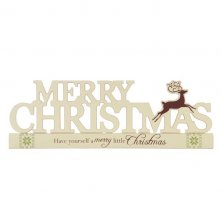 Holiday Forest Merry Christmas Cut Out Mantel Plaque