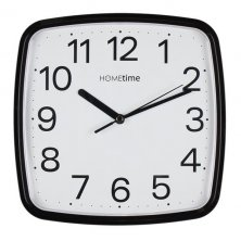 Hometime Square Silent Sweep Wall Clock