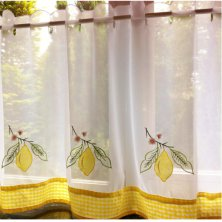 Lemons Voile Cafe Panels