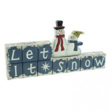 Let it Snow Mantel Plaque
