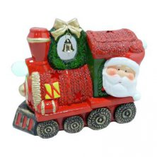 Light Up Santa Train Ornament