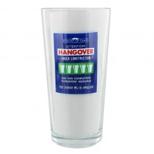Hangover Under Construction Ministry of Chaps Beer Glass