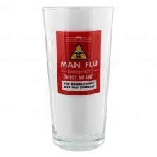 Man Flu Ministry of Chaps Beer Glass