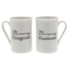 Amore  Mug Gift Set Morning Handsome Morning Gorgeous