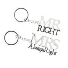 'Mr Right & Mrs Always Right' Keyrings