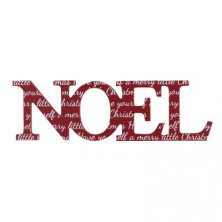 Noel Wooden Cut Out Mantel Plaque