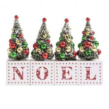Noel Christmas Trees Mantel Plaque